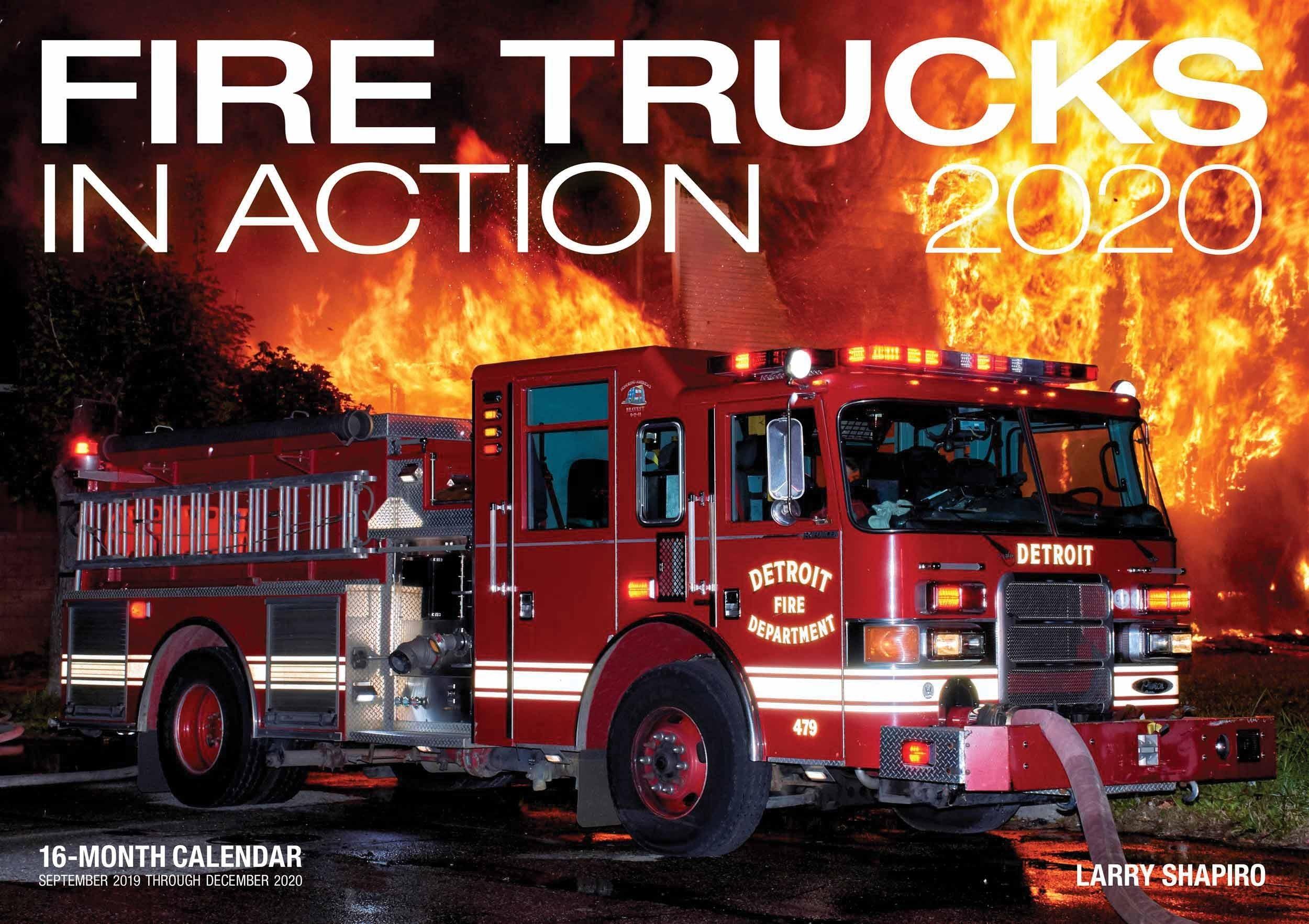 Fire Trucks In Action Deluxe Calendar 2020  Fire Department Schedule 2020