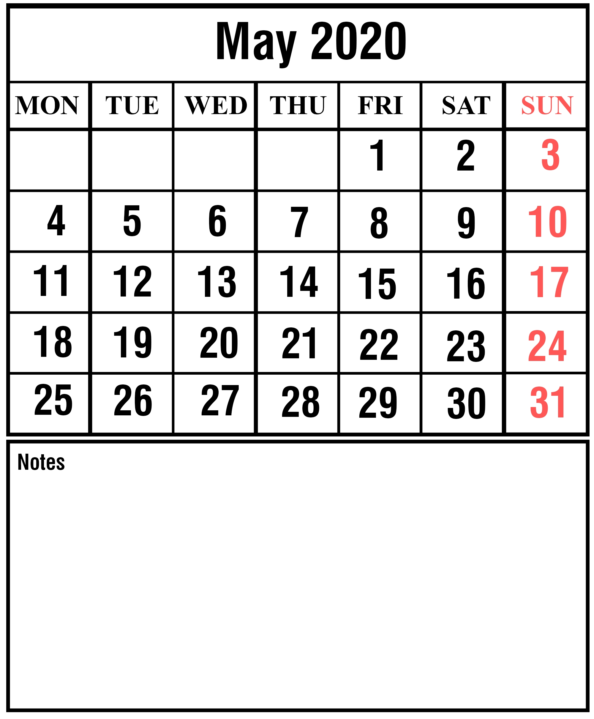 Free May 2020 Printable Calendar Template With Holidays [Pdf  Firefighter Calendar 2020 Printable