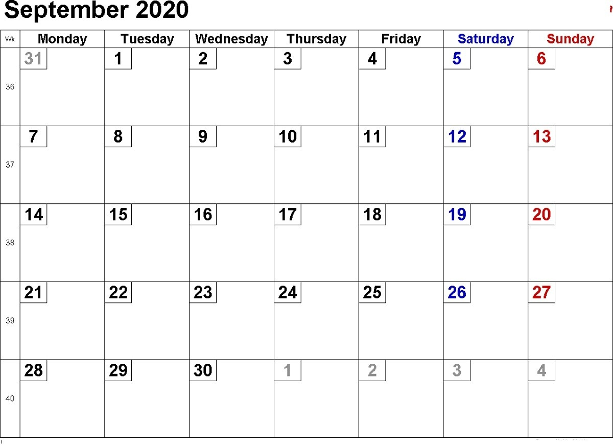 Free Monthly Calendar 2020 All Pages | Calendar Shelter  Ber 2020 Full Page Calendar
