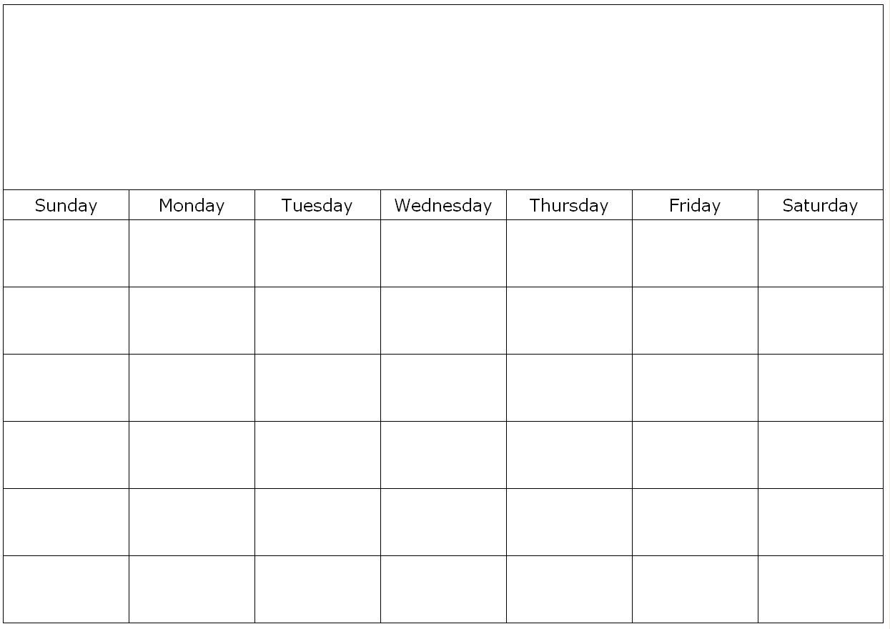 Free Printable 1 Month Calendar | You Can Find This Calendar  Printable Full Page Monthly Calendar Blank