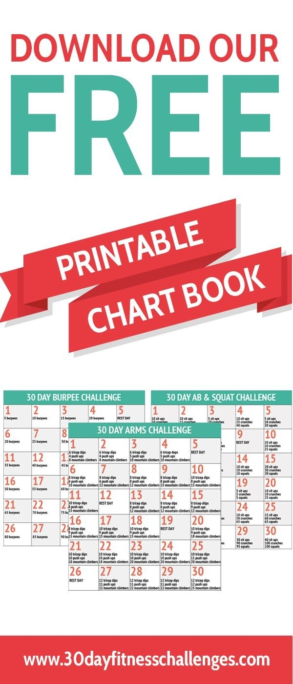 Free Printable 30 Day Fitness Challenge Chart Booklet  30 Day Fitness Challenge Printable