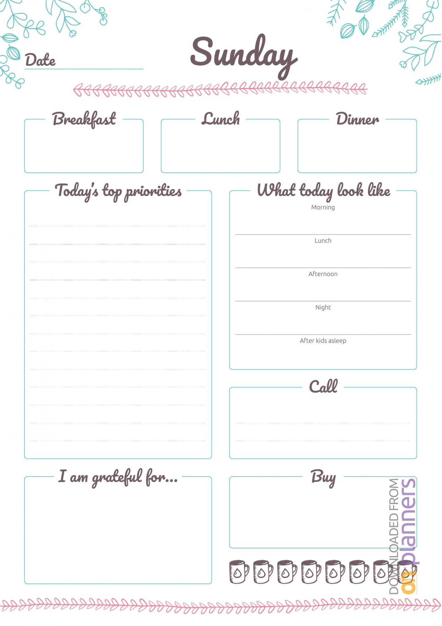 Free Printable 7 Days Weekly Planner Pdf Download  7 Day Weekly Planner Pdf