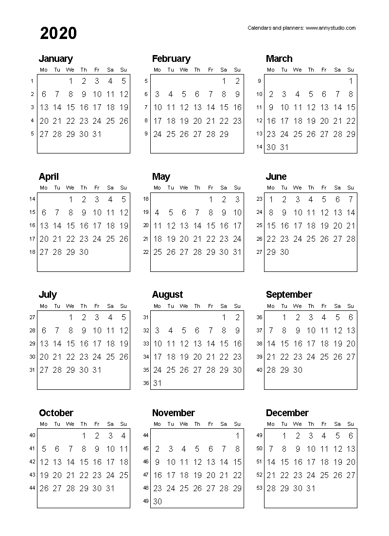 Free Printable Calendars And Planners 2019, 2020, 2021, 2022  Financial Year Dates 2020/2020
