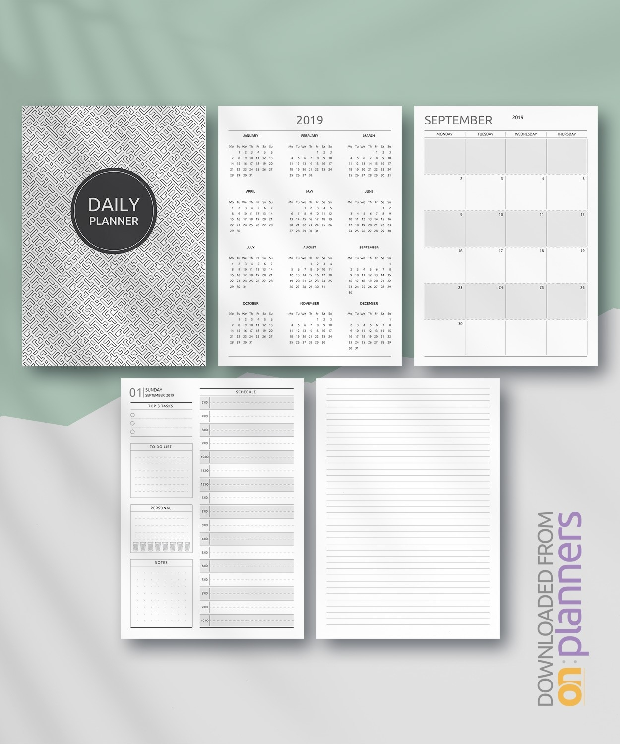 Free Printable Daily Planner - Original Style Pdf Download  26.catholic Daily Planner Template