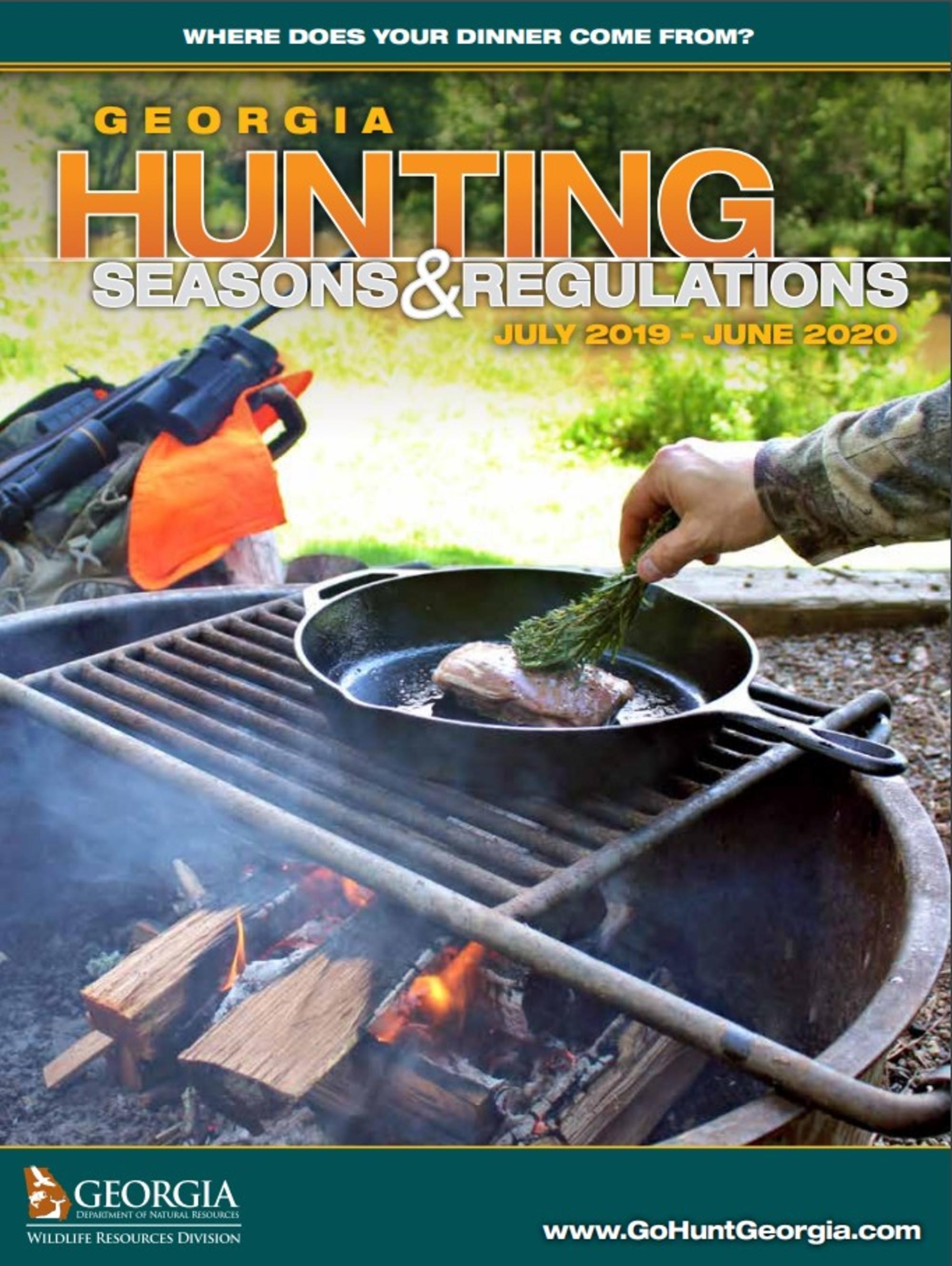 Georgia Hunting Seasons & Regulations July 2019 - June 2020  Georgia Deer Season 2020