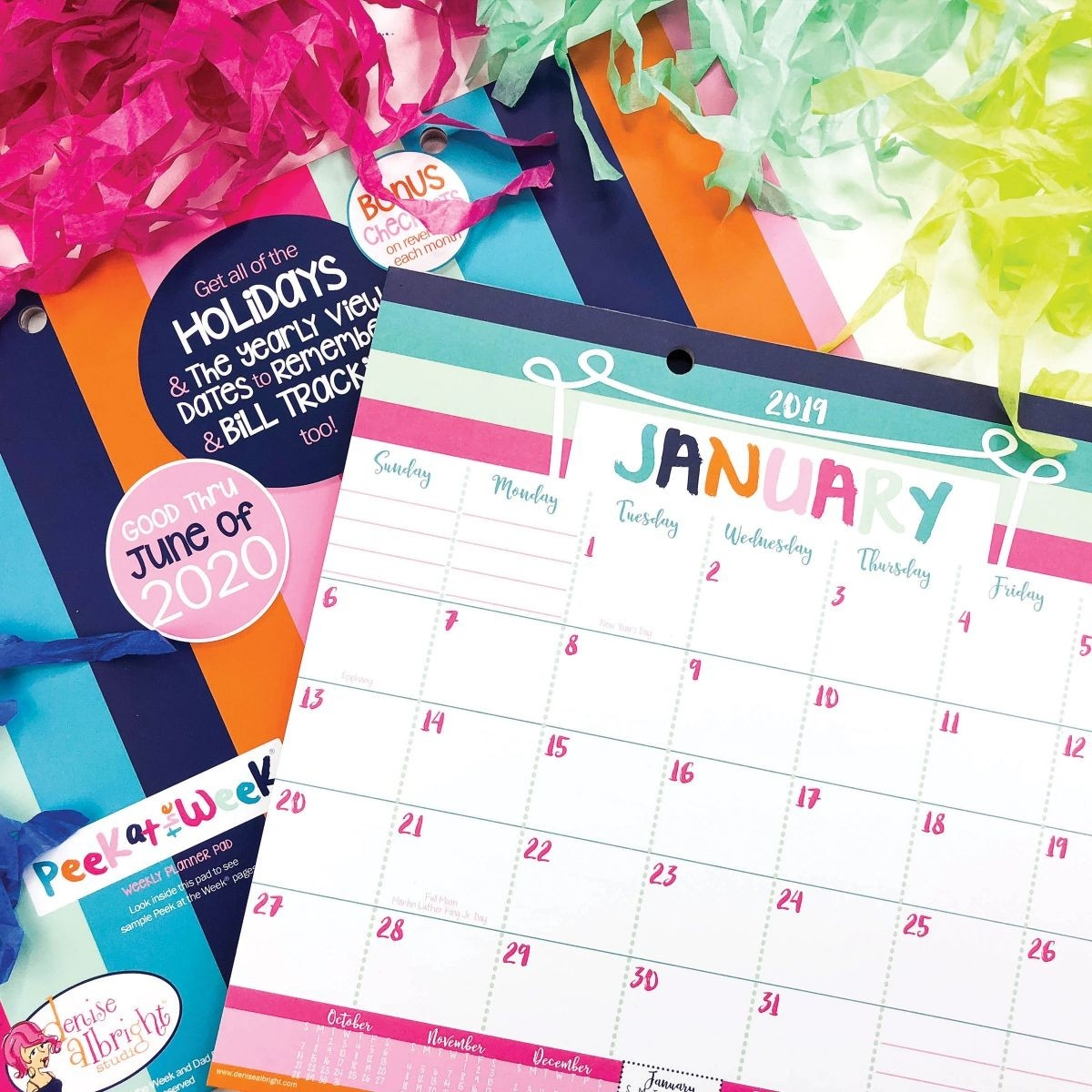 Groopdealz | New! 18-Month 2019-2020 Desk Calendar | Lists  2020 Bill Pay Calendar