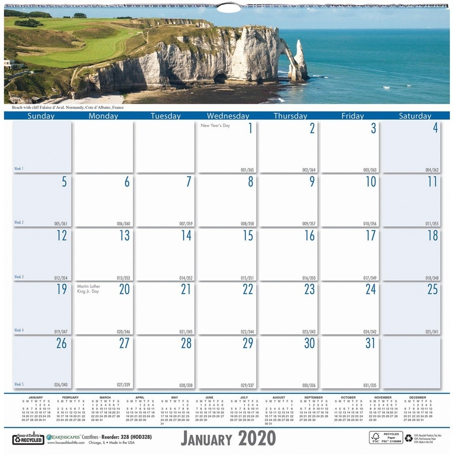 House Of Doolittle Coastlines Monthly Wall Calendar - Yes  Official Navy Calendar Template With Julian Dates 2020