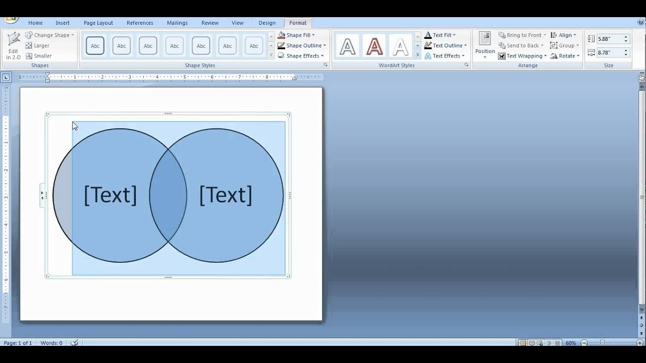 How To Create A Venn Diagram In Word And Powerpoint  Overlap Picture In Word 2013