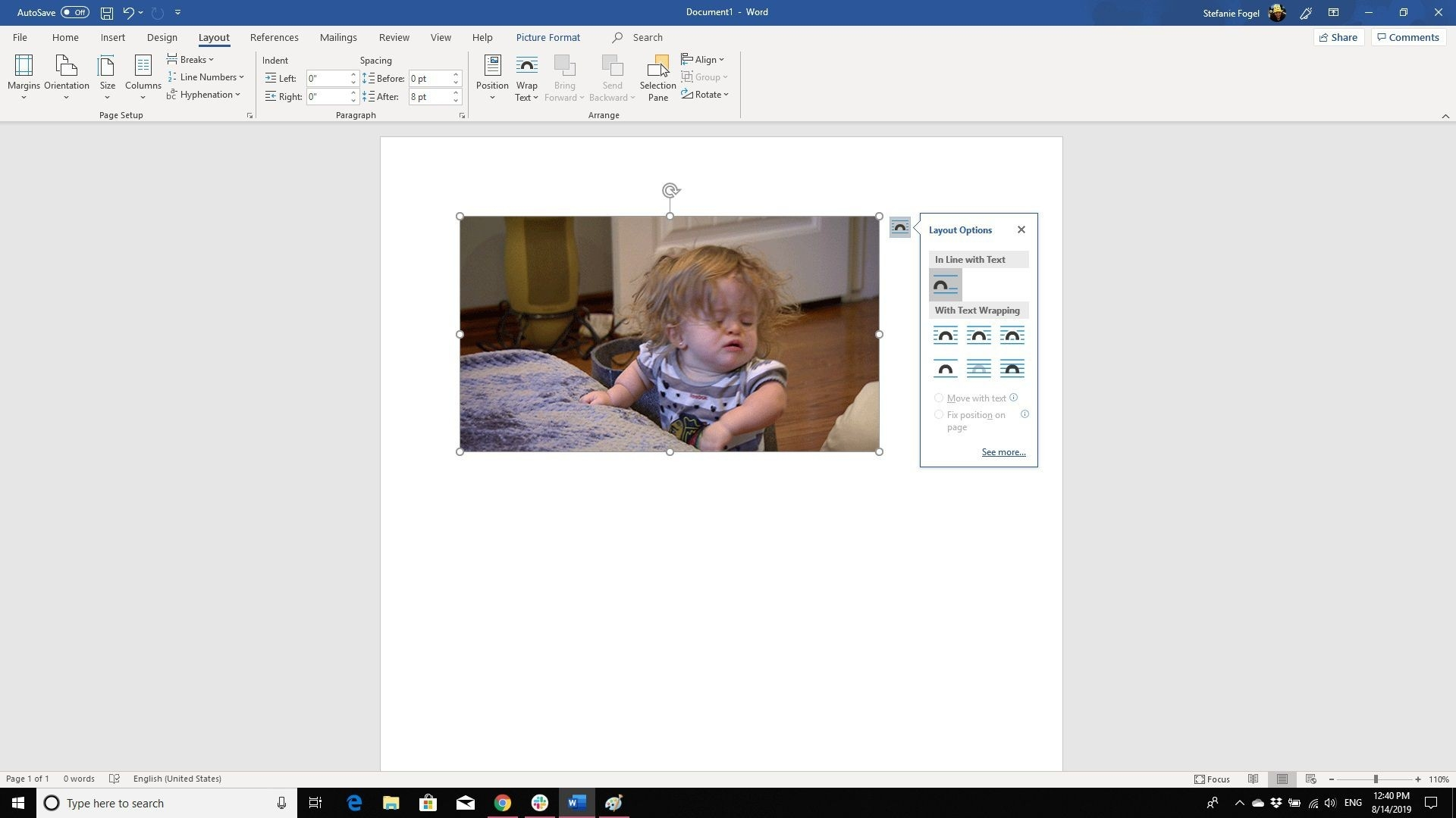 How To Position Images In A Word Document  Overlap Picture In Word 2013