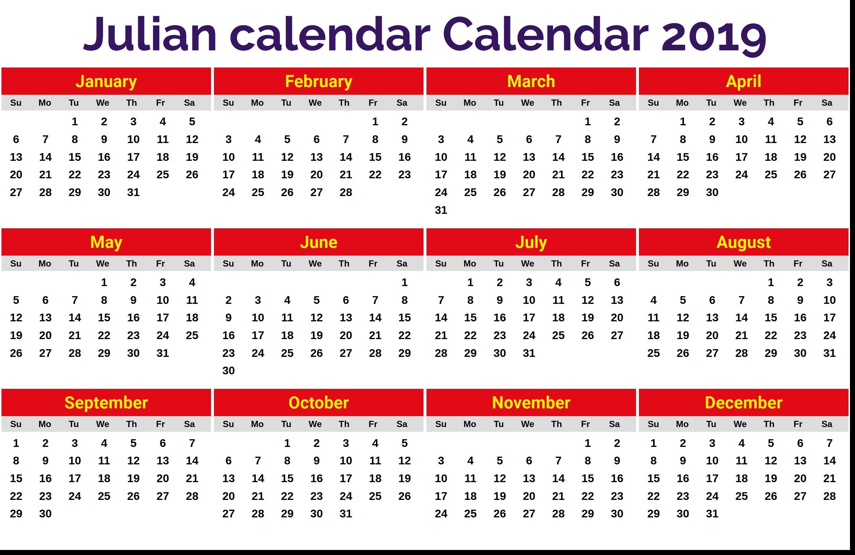 Julian Date Calendar 8 2889X1874 - Bi-Brucker-Holz.de Frisch  Military Julian Calendar 2020