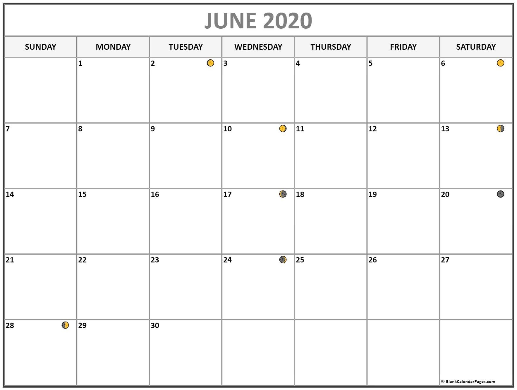 June 2020 Lunar Calendar | Moon Phase Calendar  Solar Lunar Calendar - 2020