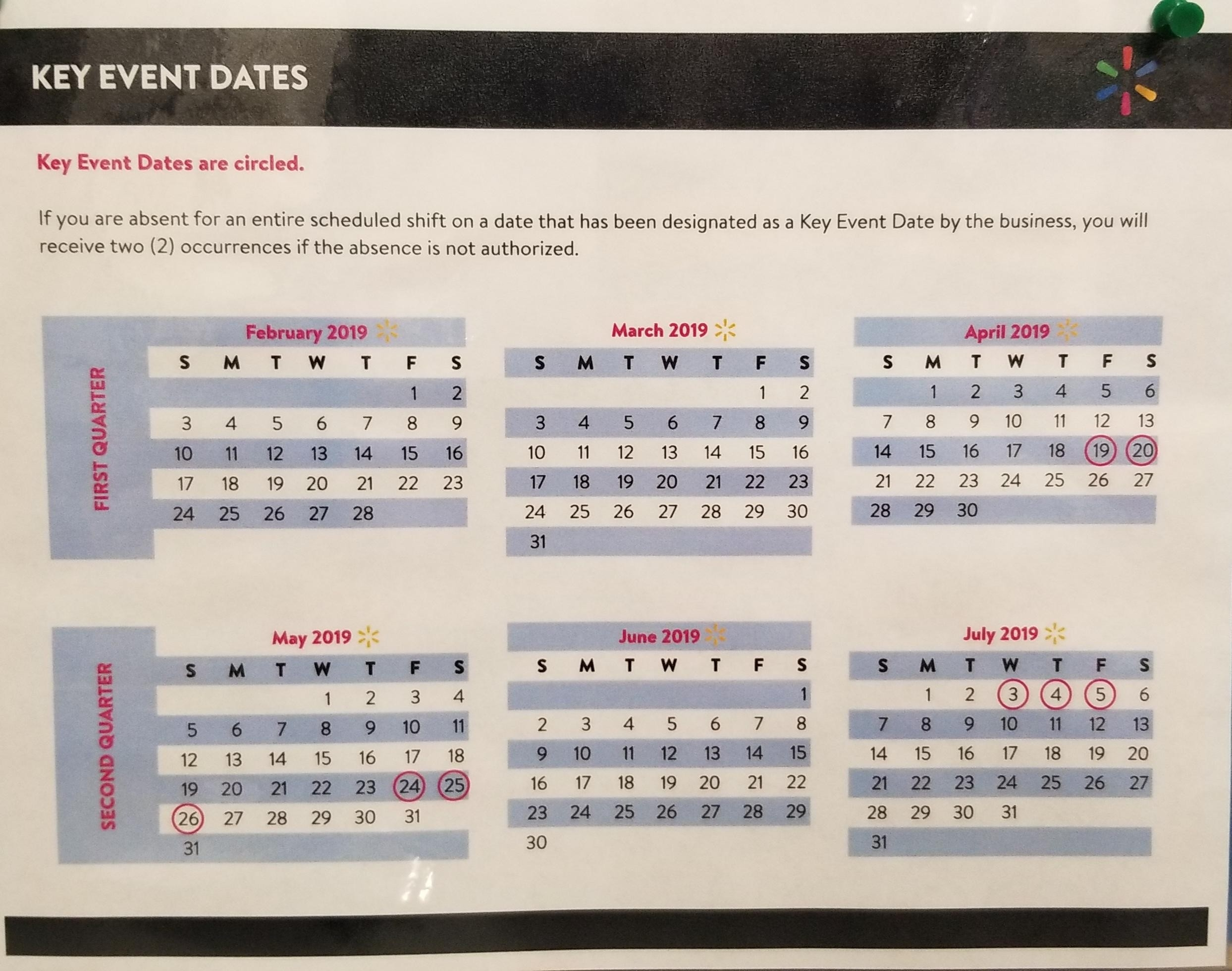 Key Dates Through July. : Walmart  +Agust 2020 Calendar