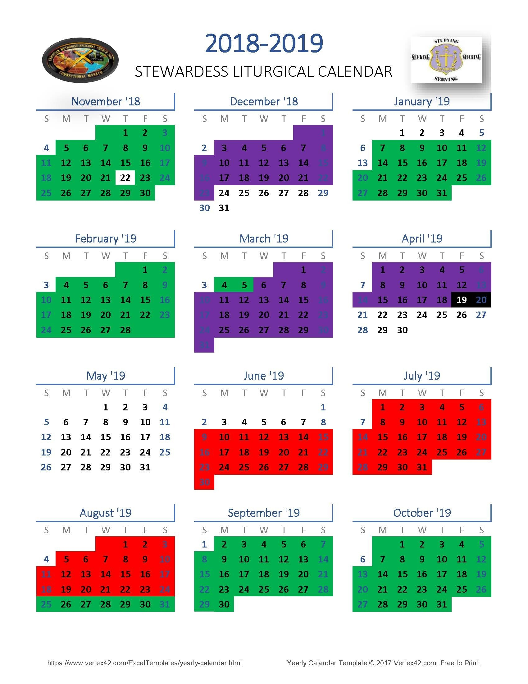News  Methodist Liturgical Calendar 2020