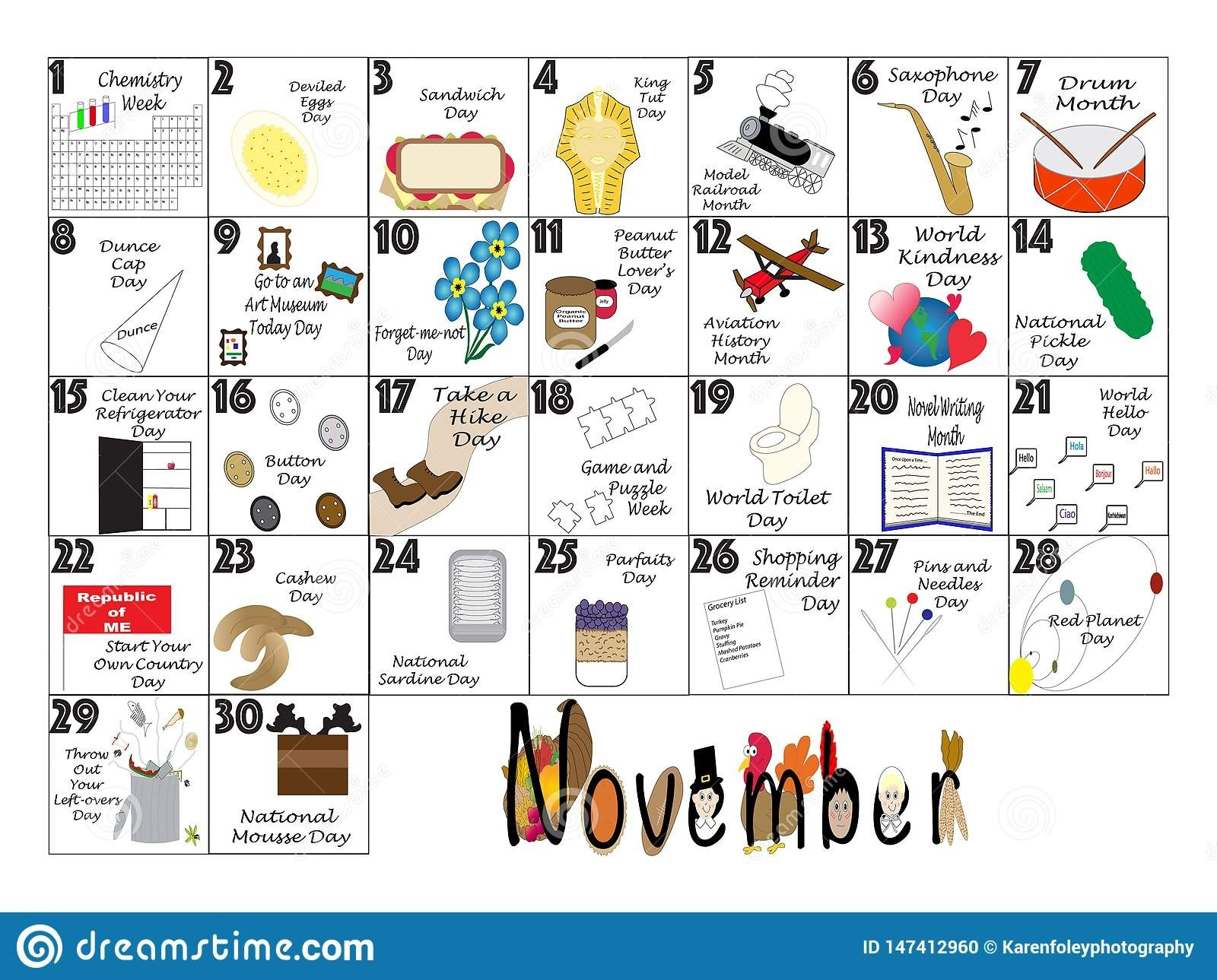 November 2020 Quirky Holidays And Unusual Celebrations  November Clipart 2020