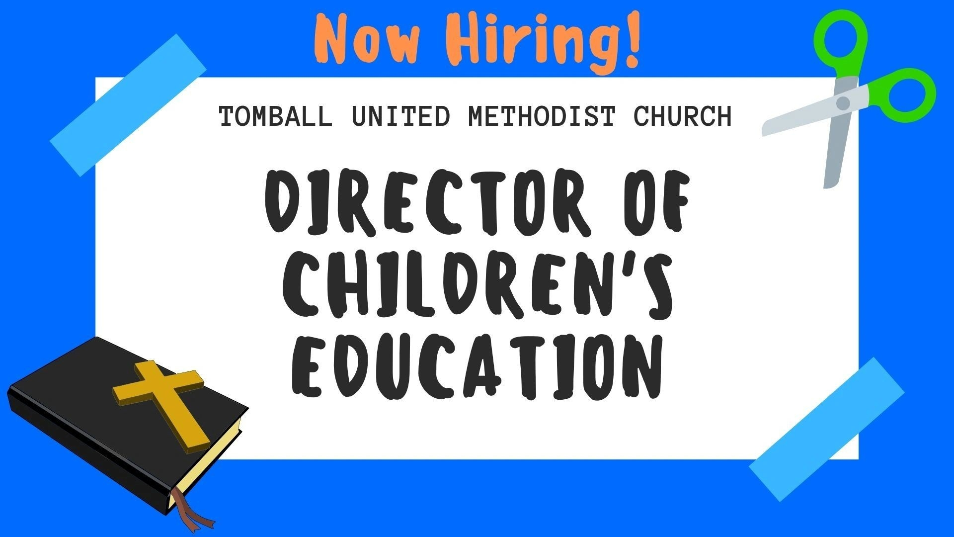 Now Hiring! Director Of Children's Education  Unite Methodist Calender - Christian Calender Year Subjects