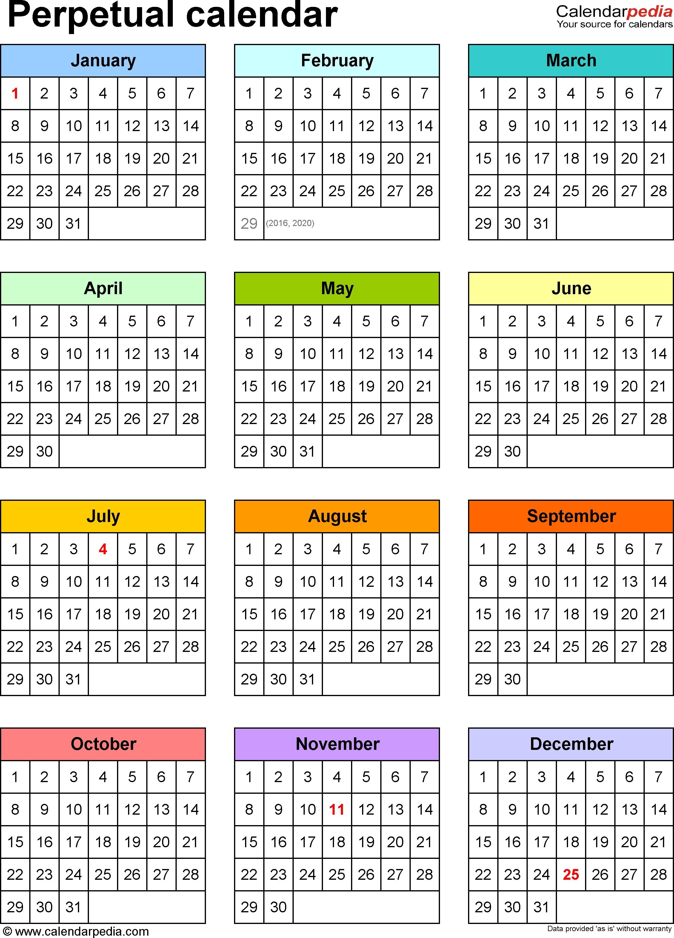 Perpetual Calendar 2019 - Vapha.kaptanband.co  Depo Provera Perpetual Calendar 2020