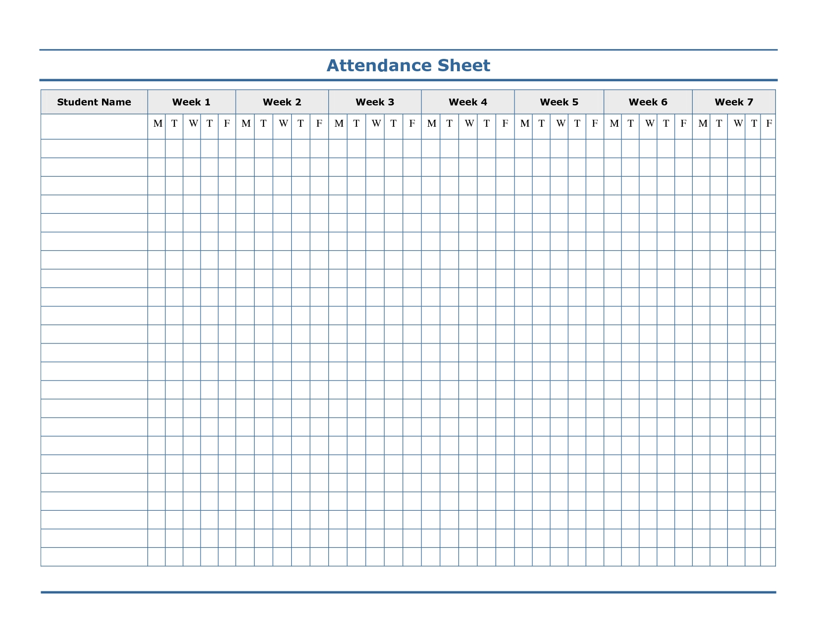 Pin On Attendance  Free Printable 2020 Employee Attendance Sheet