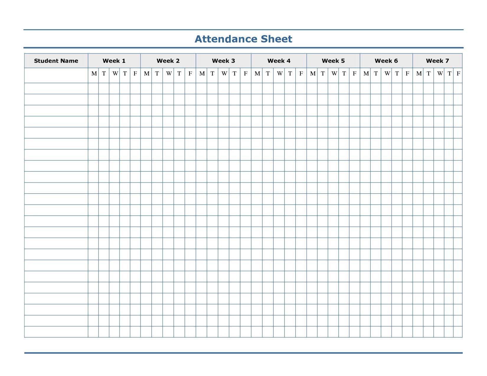 Pin On Attendance  Free Printable 2020 Employee Attendance Sheet
