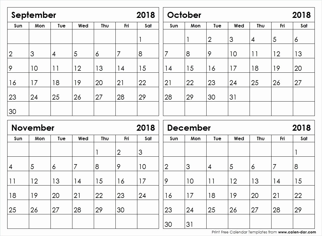 Printable Calendar 4 Months Per Page 2019 • Printable Blank  Printable Calendar 2020 3 Months Per Page