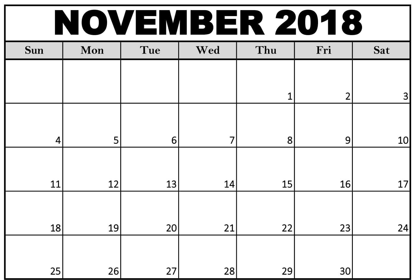 Printable Calendar September 2018 To December 2019  Rancholasvoces Free Printable Calendar