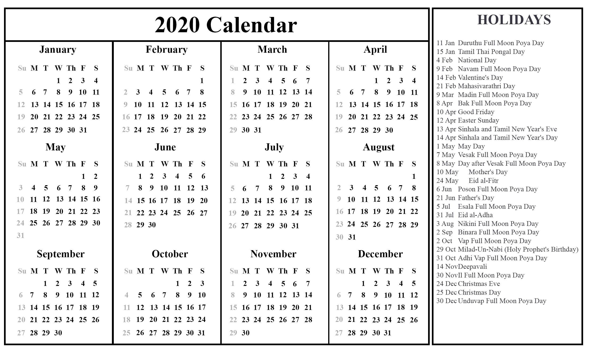 Printable December Calendar Template  Calendar 2020 August-December