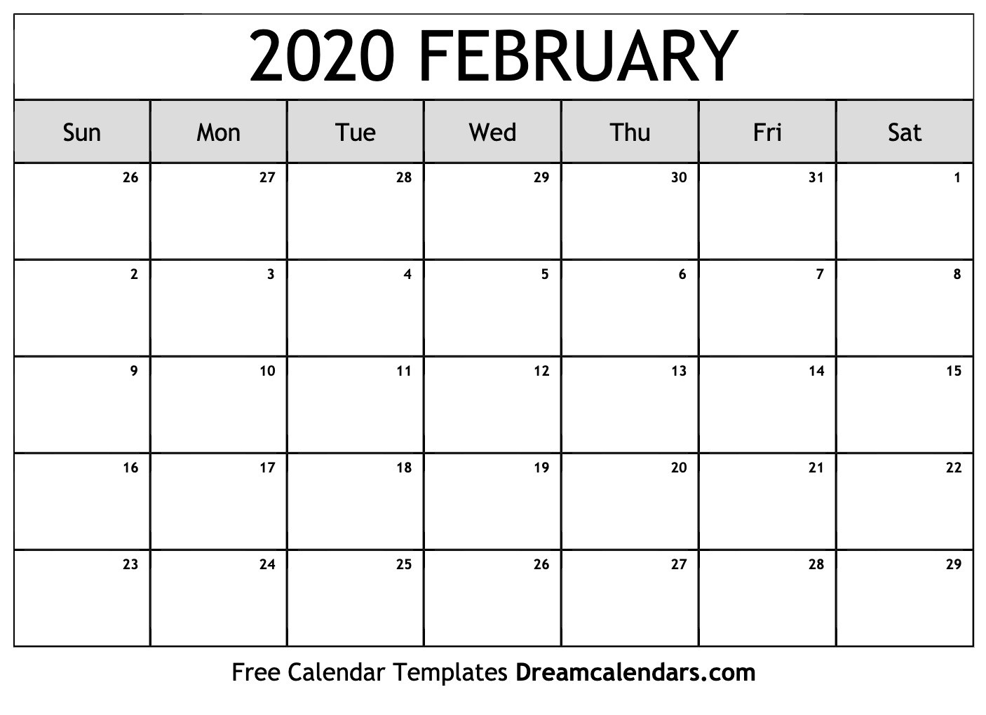 Printable February 2020 Calendar  Lunar And Solar Calendar 2020