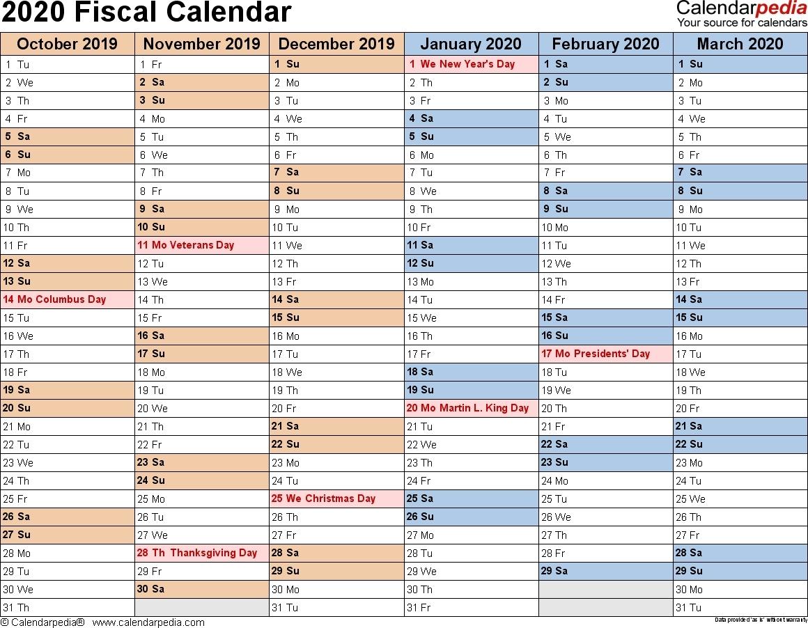 Printable Fiscal Calendar April 2020 - 2020 » Creative  2020/2020 Financial Year Calendar