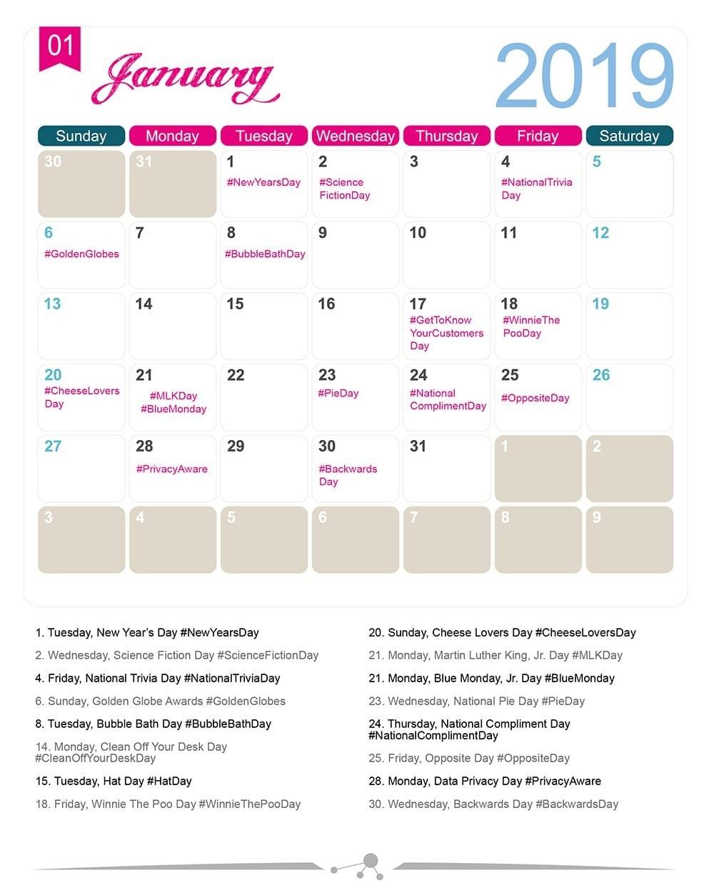 Printable List Of National Food Days 2020 | Calendar  National Food Days 2020 Printable