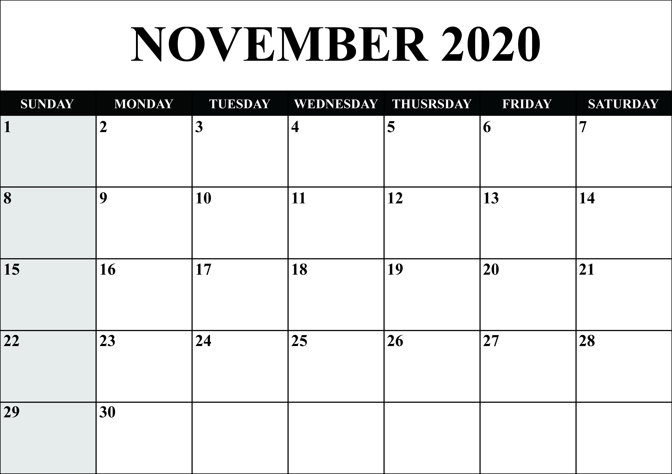Printable Yearly Calendar 2020 Template With Holidays [Pdf  Lunar And Solar Calendar 2020