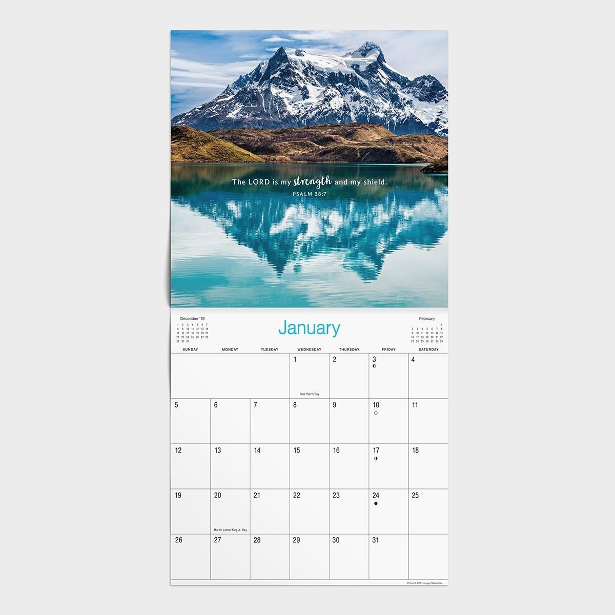 Psalms Trees - 2020 Wall Calendar  2020 Christian Advent Calendar With Scripture