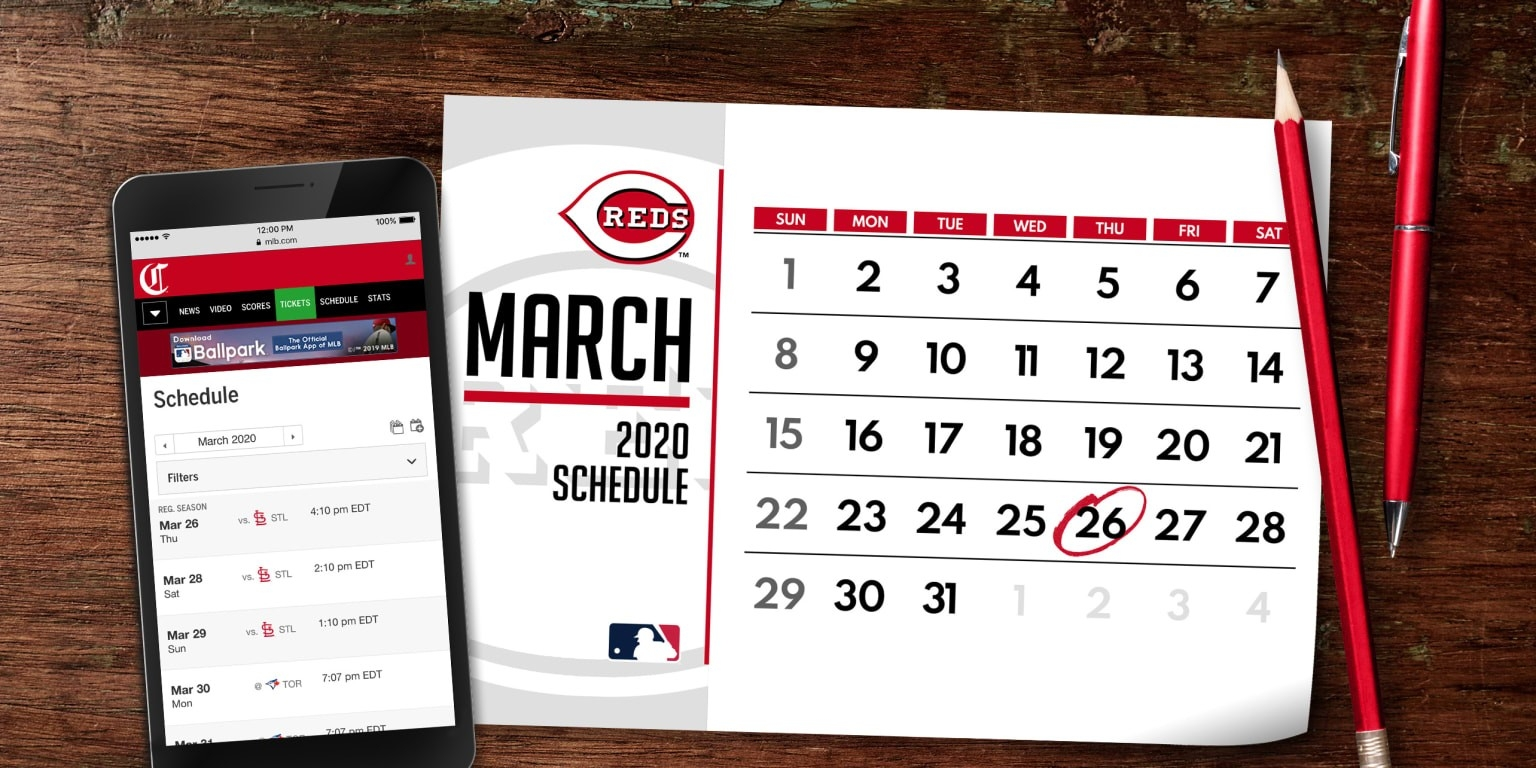 Reds 2020 Schedule Released | Cincinnati Reds  Depo Provera Calendar For  8/2020