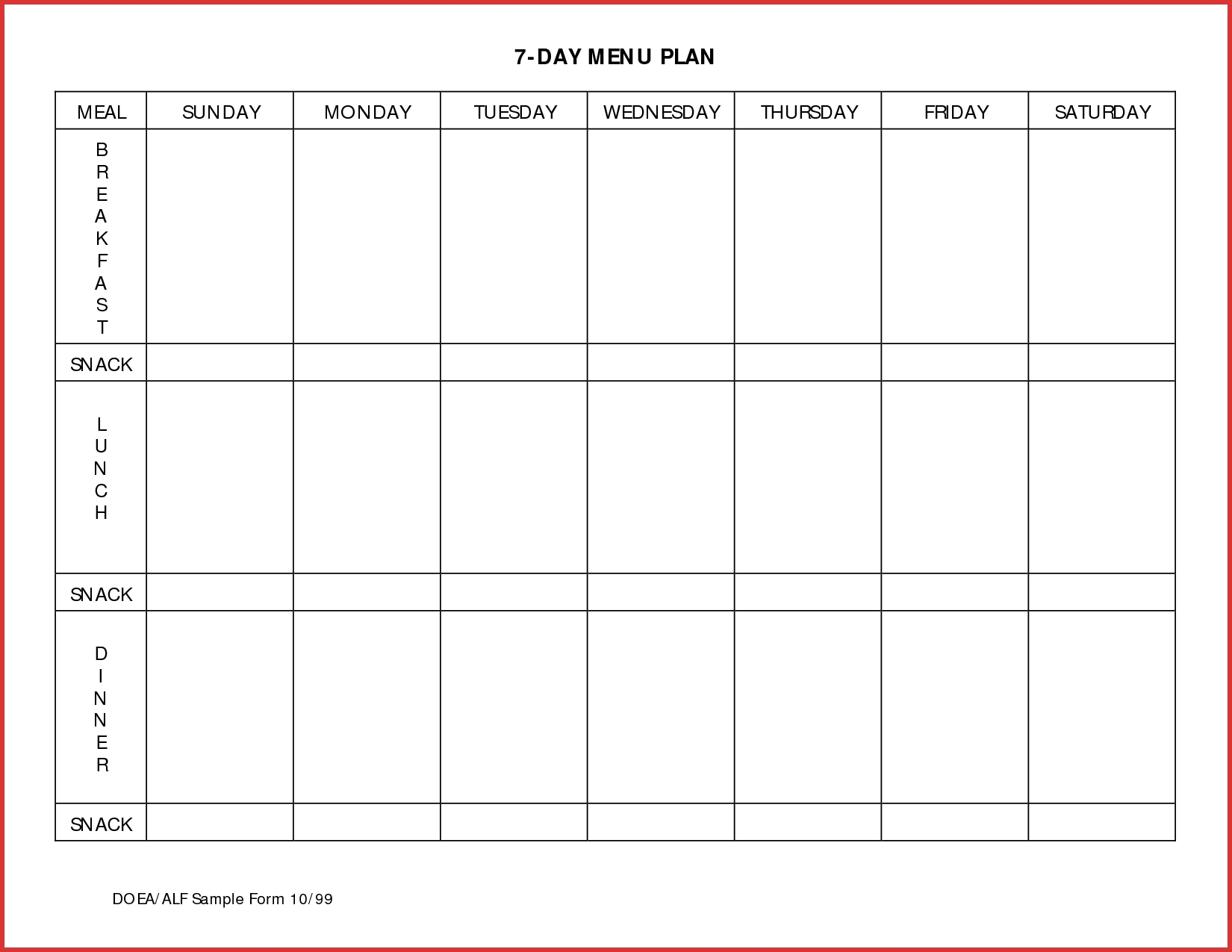 Schedule Template Day Planner Pdf Hourly Free Meal | Smorad  7 Day Weekly Planner Pdf