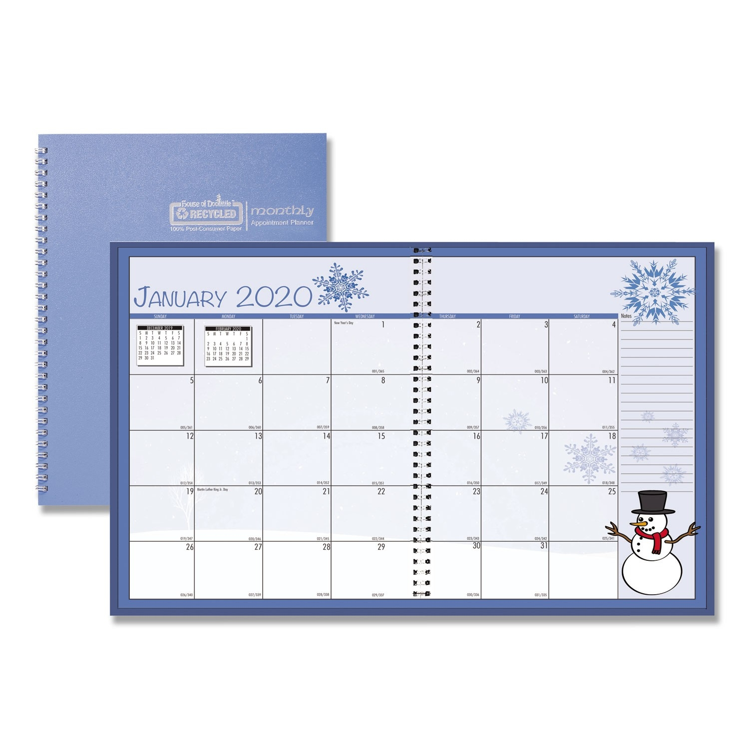 Seasonal Monthly Planner, 10 X 7, 2020  365 Day Julian Calendar 2020