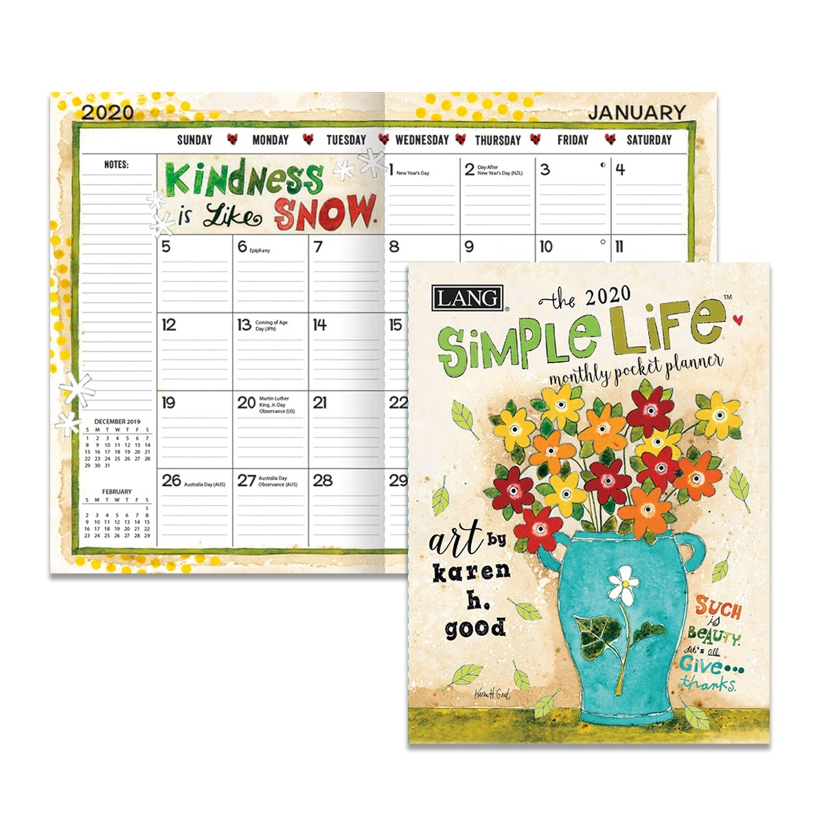 Simple Life 2020 Monthly Pocket Planner  Monthly Pocket Planner 2020 2020