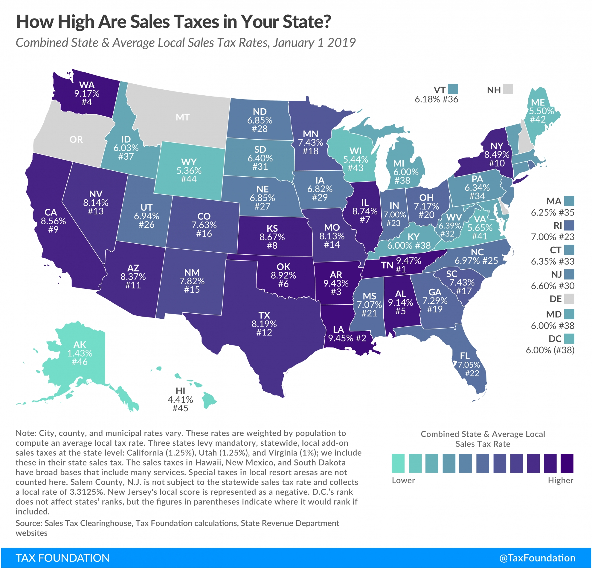 State And Local Sales Tax Rates, 2019 | Tax Foundation  Louisiana Sales Tax Free Weekend 2020