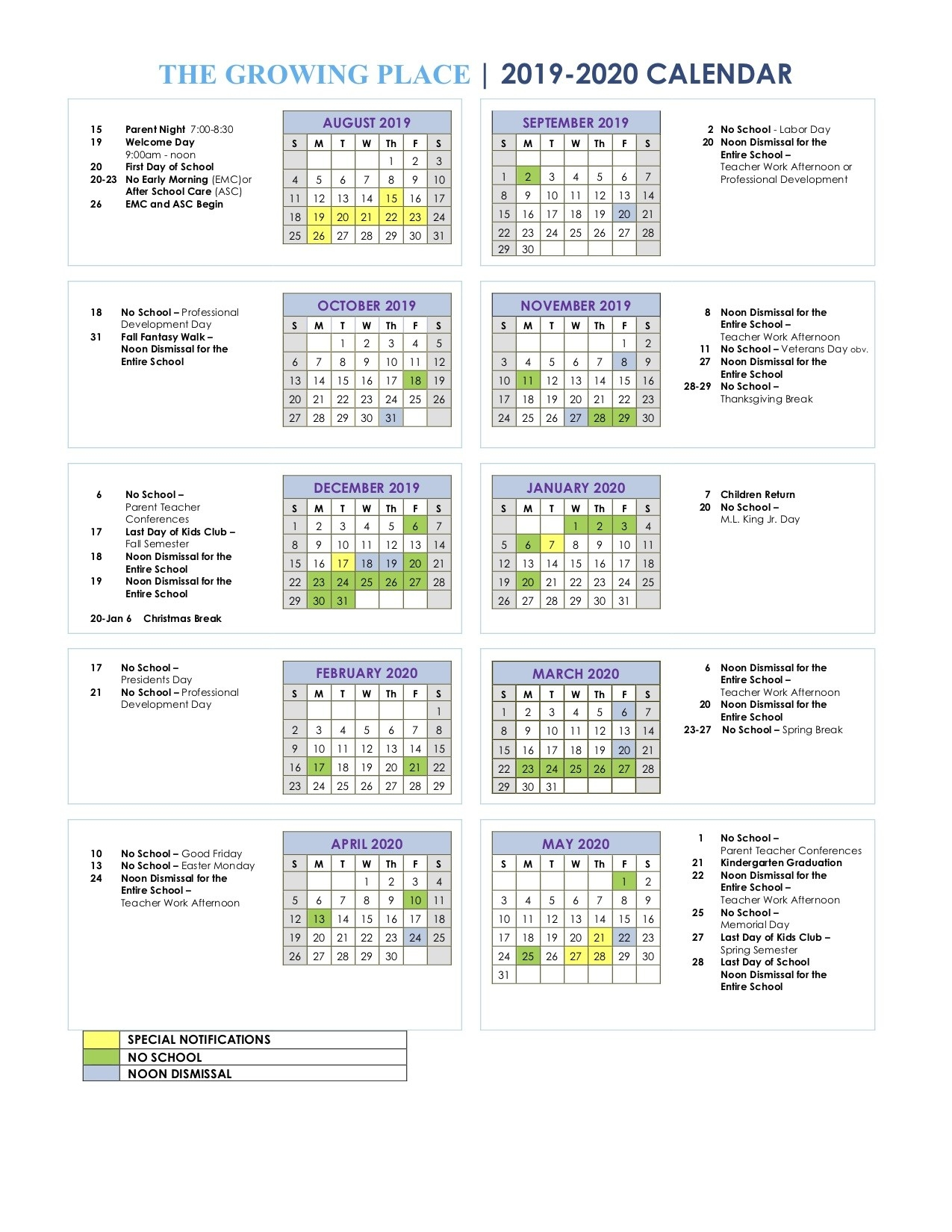 The Growing Place Calendar  United Methodist 2020 Calendar