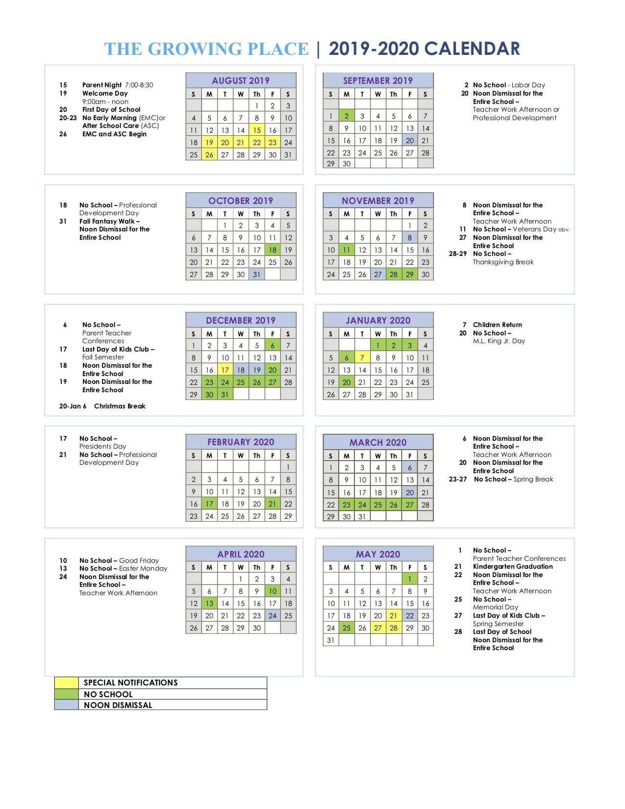 The Growing Place Calendar  United Methodist Church Calendar 2020