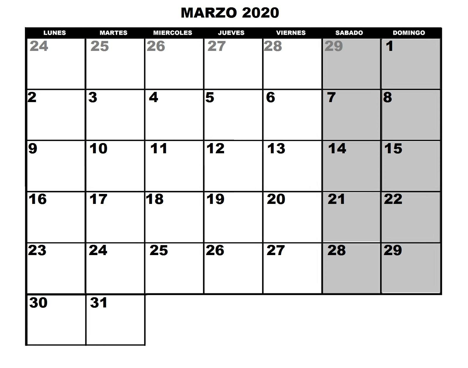 Tornadojack: Calendario 2020 Para Imprimir Y Poner Fotos A  Calendario Para Imprimir Mes Por Mes 2020