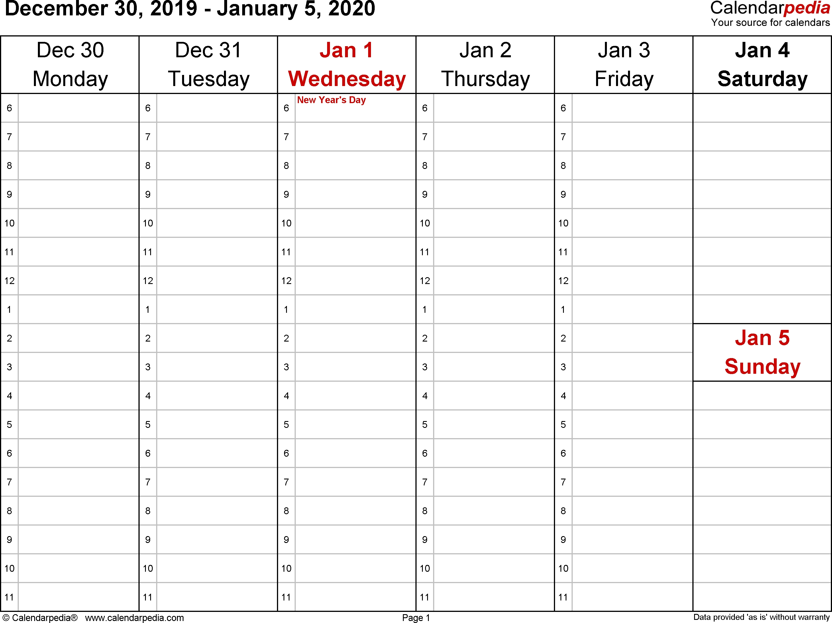 Weekly Calendar 2020 For Pdf - 12 Free Printable Templates  2020 Employee Attendance Calendar Pdf