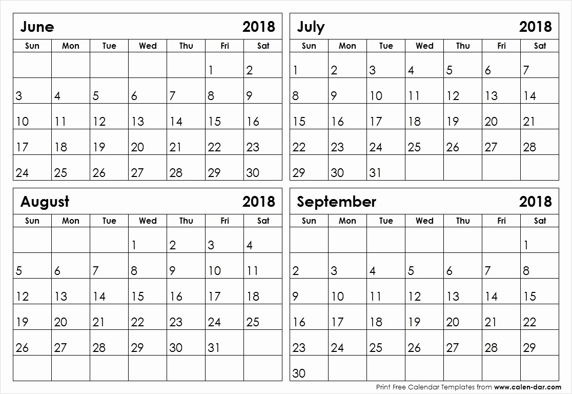 2 Month Per Page Printable Calendar 2020 | Monthly Calendar  4 Months Per Page Calendar Printable