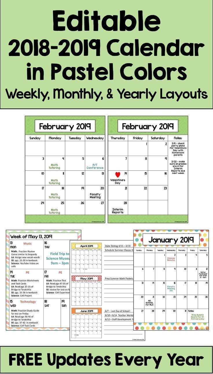 2020-2021 Calendar Printable And Editable With Free Updates  Editable Baptist Calendar 2020 Printable