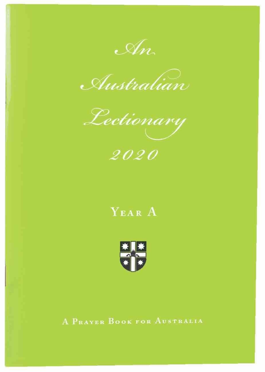 2020 Australian Lectionary 2020 Anglican Prayer Book For Australia (Year A)  Lectionary Readings For 2020
