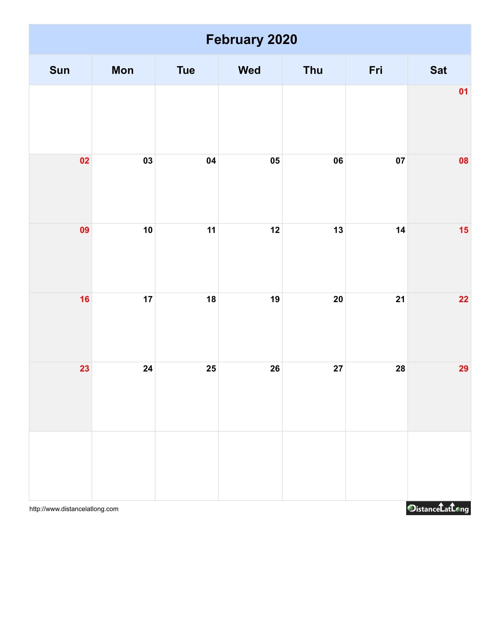 2020 Blank Calendar Blank Portrait Orientation Free  Download 2020 Blank Calendar Printable
