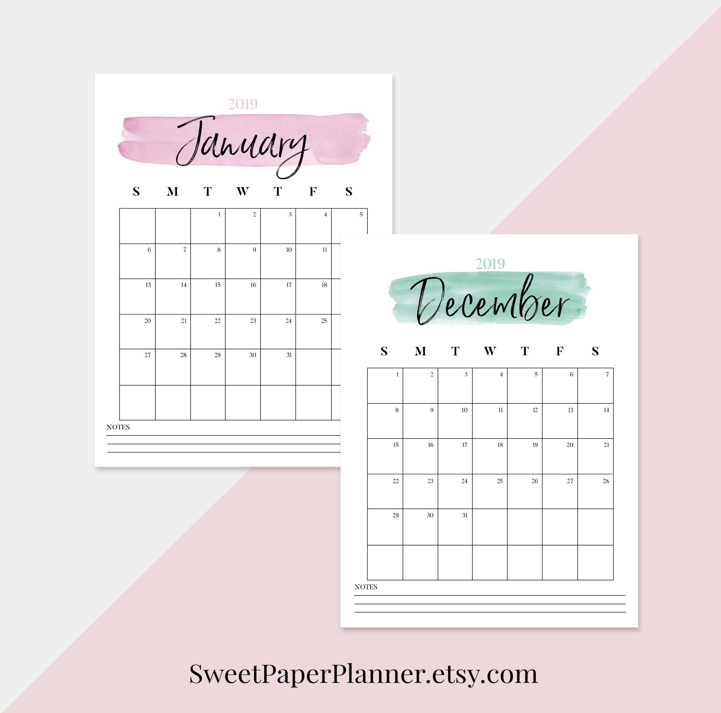 2020 Watercolor Calendar And To Do List | Printable  File:///u:/depo Perpetual Calendar.pdf