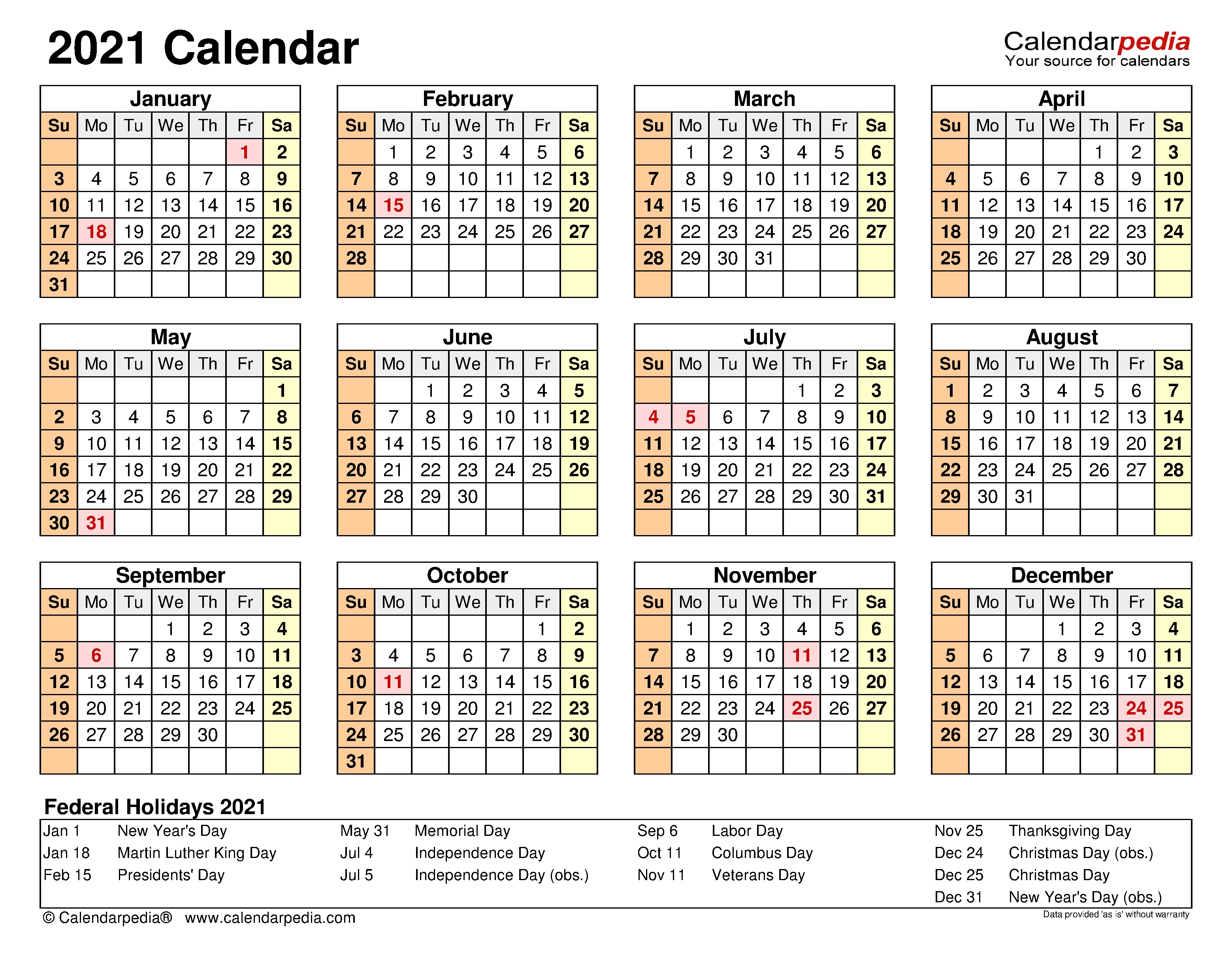 2021 Calendar - Free Printable Microsoft Excel Templates  Excel 4 Month 2021 Calendar Template