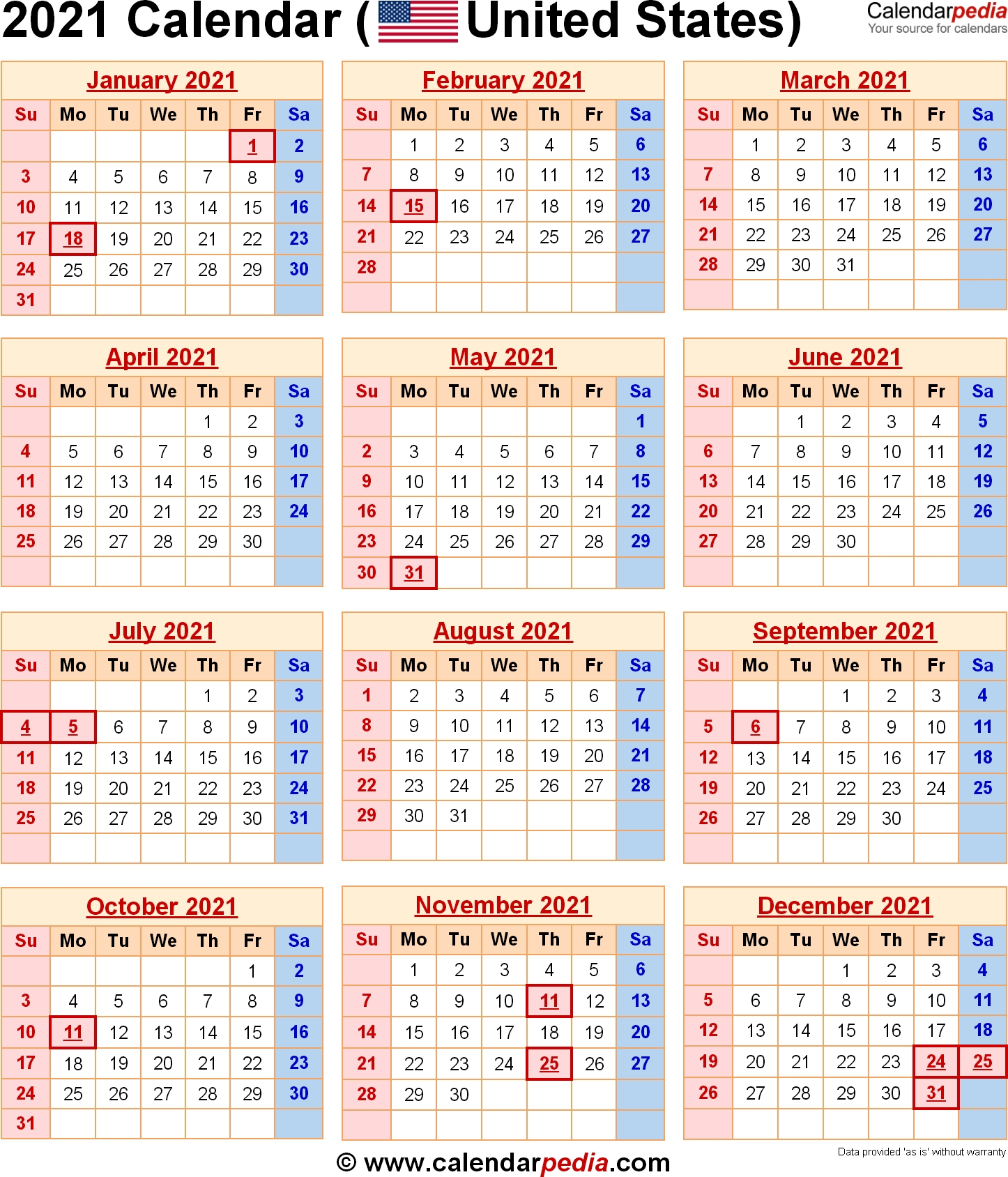 2021 Calendar With Federal Holidays  Date Code Calendar 2021