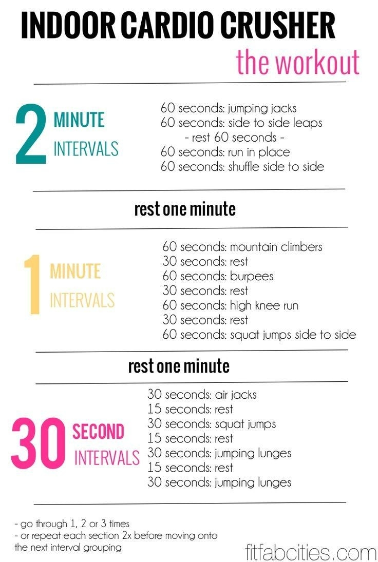 21-Day Shape-Up Plan: Get Started (With Images) | Cardio  30 Exercise Chart For Beginners