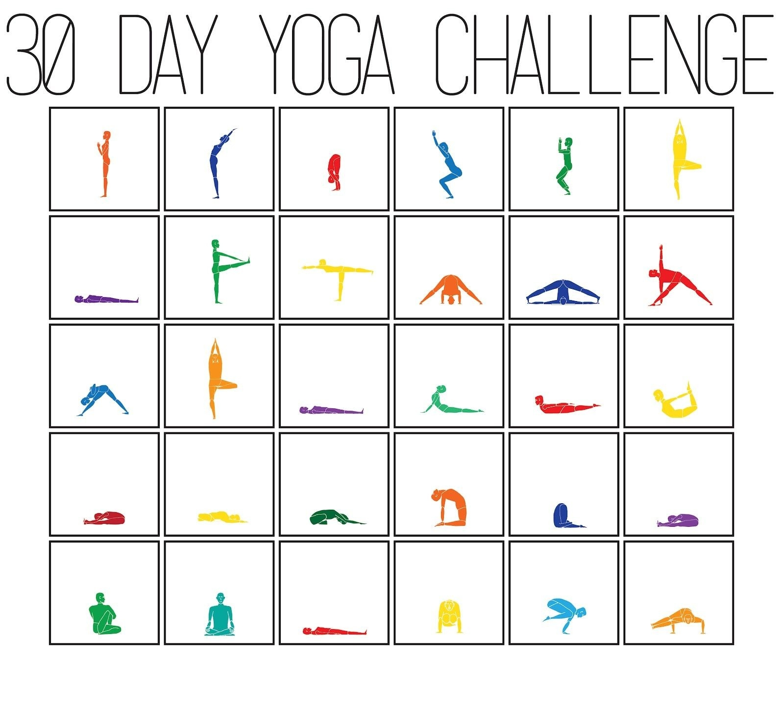 30 Day Challenge Bikram Yoga Challenge Chart.aly  Exercise Challenge Chart