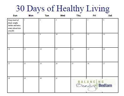 30 Day Exercise Chart - Toskin  30 Day Challenge Printable Chart