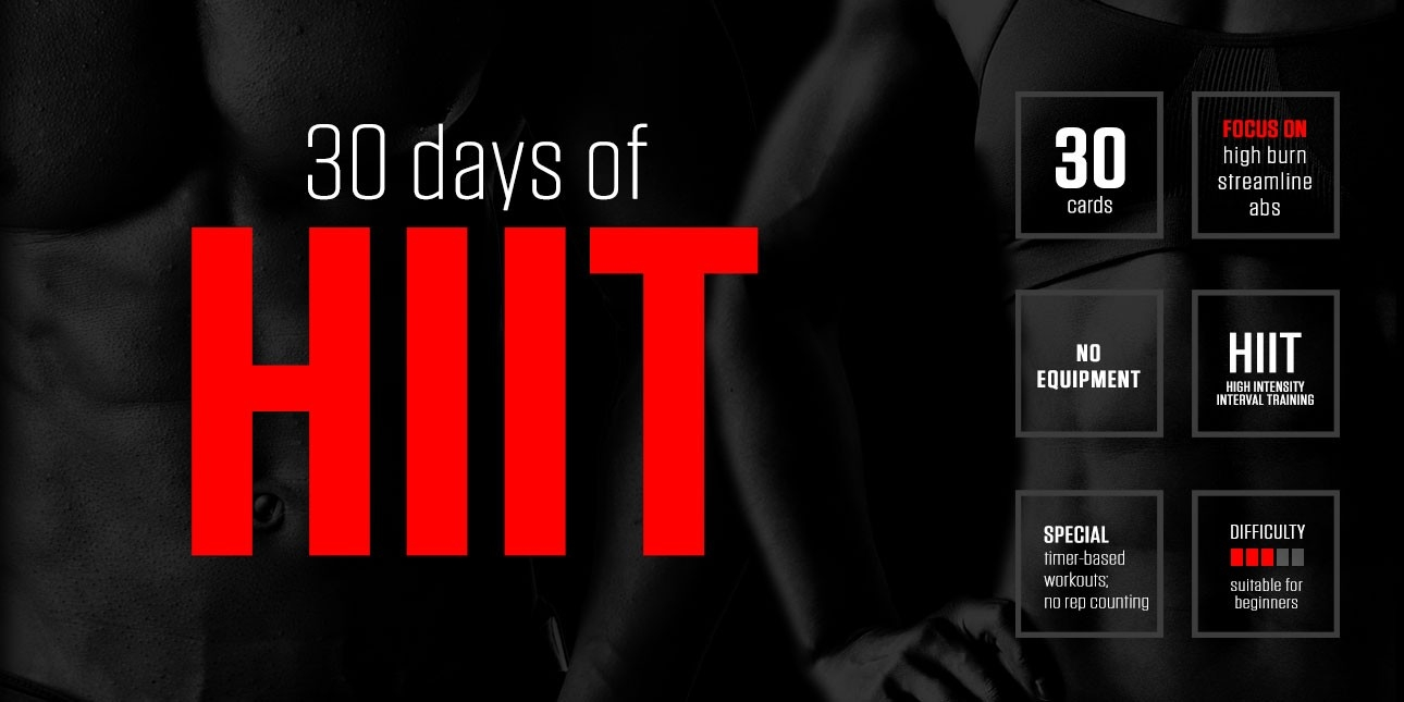 30 Days Of Hiit  30 Exercise Chart